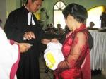 Disaat yang bersamaan Abangnya Andrew yaitu Josua anak Bapa Tua Balige juga di Baptis di Gereja HKBP Pintubatu